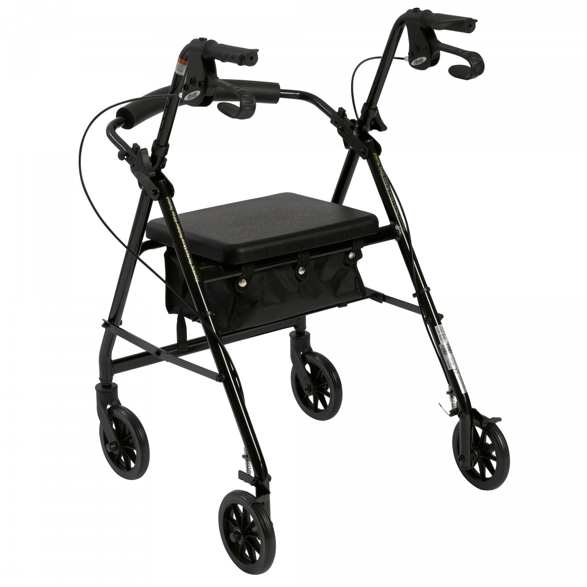 lightweight rollator with fold up and removable back support by drive e3c