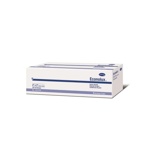 Hartmann 416814 Econolux 2 x 2 Inch Gauze Sponge 8 Ply, Box of 200