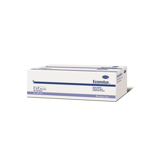 Hartmann 416814 Econolux 2 x 2 Inch Gauze Sponge 8 Ply, Box of 200