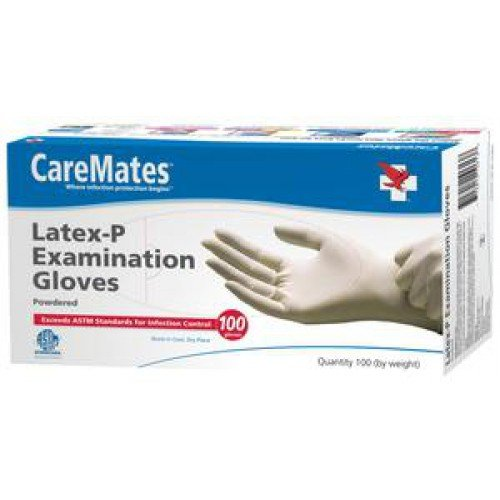CareMates Latex Exam Gloves Powdered - NonSterile