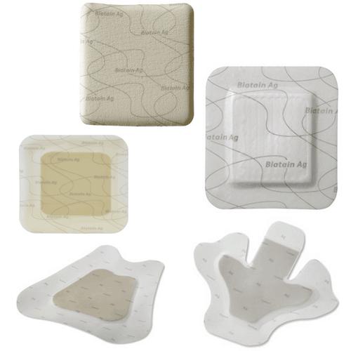 Biatain Ag Foam Dressings with Adhesive Border