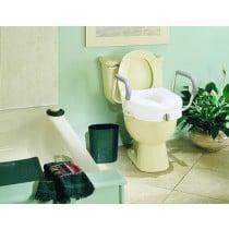Ez Lock Raised Toilet Seat with Adjustable Arms