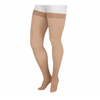 Juzo Soft 2002 Thigh High Compression Stockings w/ Beaded Silicone Top Band 30-40 mmHg