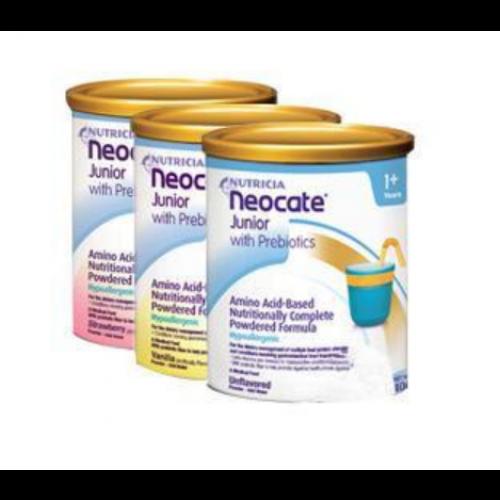 Neocate Junior with Prebiotics, Unflavored, Strawberry and Vanilla