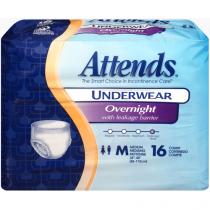 Attends Protective Overnight Underwear Medium