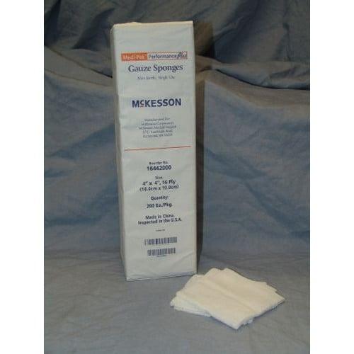 McKesson 16442000 Gauze Sponges 4x4 Inch 16 Ply