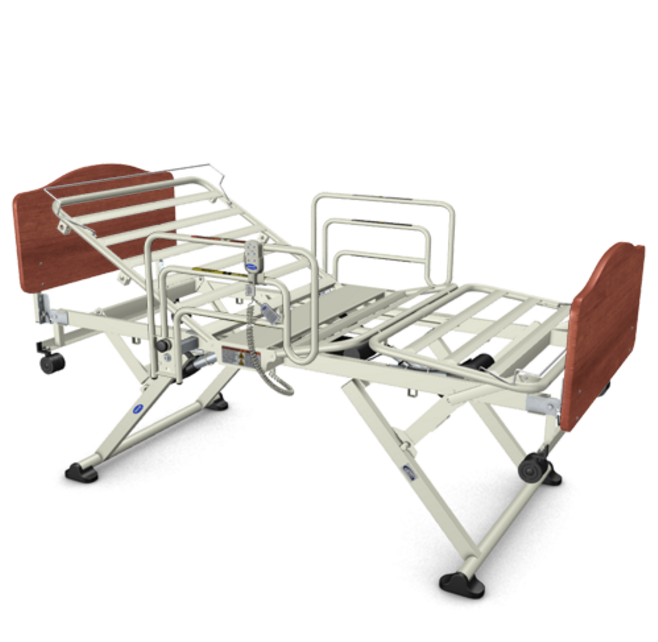 invacare carroll cs7 long term care hospital bed 500 pound capacity 336