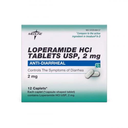 Loperamide HCL Anti-Diarrheal HCL Tablets, 2 mg