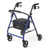 Medline Steel Foldable Adult Rollator Mobility Walker