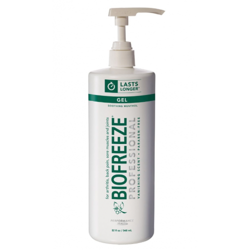 Biofreeze Cold Therapy Pain Relief Gel, Colorless