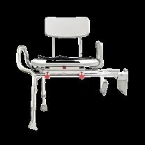 Eagle Health Tub-Mount Swivel Sliding Bath Transfer Bench (77762) - Regular - Heavy-Duty Shower Bathtub Chair