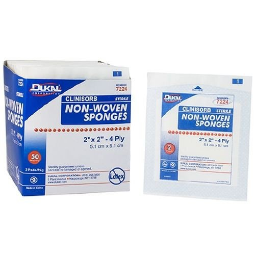 Dukal 7224 Clinisorb 2 x 2 Inch Non-Woven Sponges 4 Ply, Sterile