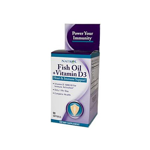 Fish Oil Plus Vitamin D3 Heart and Immune Support