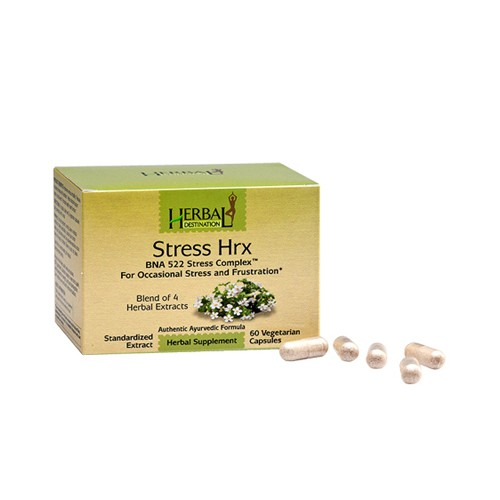 Herbal Destination Stress Hrx Stress and Frustration Relief Herbal Supplement