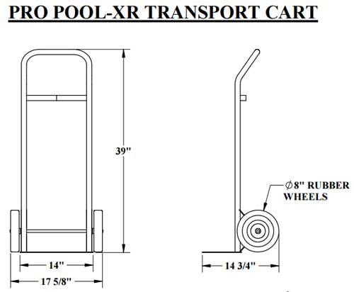 aqua creek pool lift transport cart e8d
