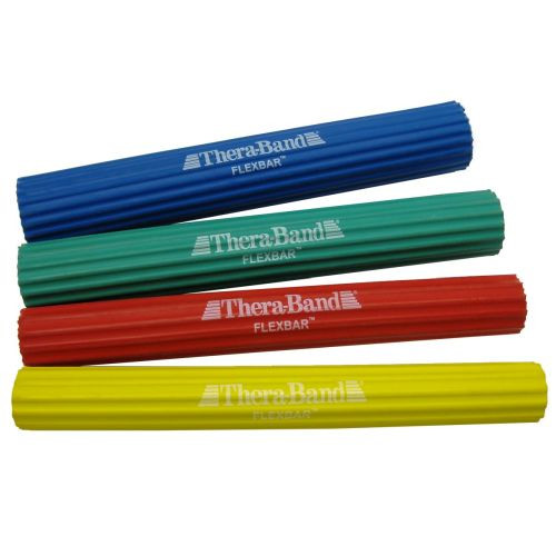 TheraBand Flexbar Resistance Bar - Blue, Green, Red, Yellow
