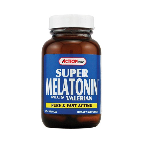 Action Labs Super Melatonin with Valerian Sleep Aid
