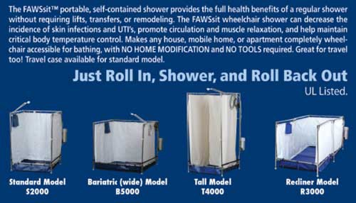 fawssit portable showers 91a