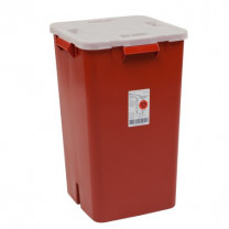 19 Gallon Red Sharps-A-Gator Sharps Container with Split Lid 31378089
