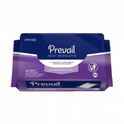 Prevail Adult Washcloths with Hypoallergenic Lotion and Premium Quilted Fabric