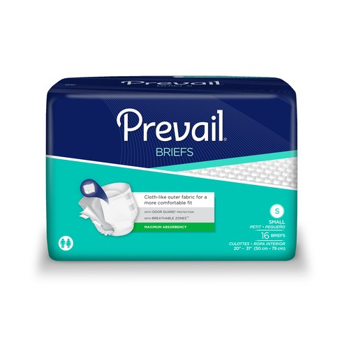 Prevail Briefs Small Heavy Absorbency