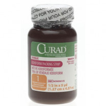 CURAD Iodoform Gauze 1/2 in x 5 yd Packing Strips - Sterile