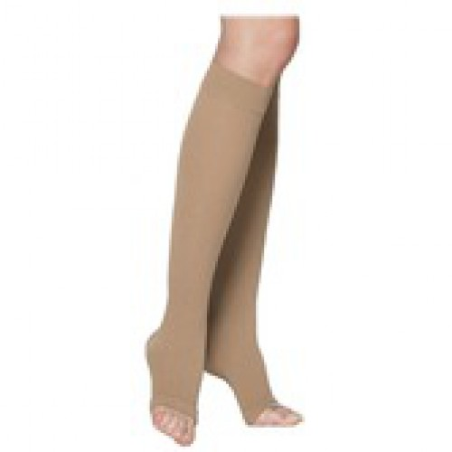 VENOSHEER Below Knee Compression Stockings OPEN TOE 20-30 mmHg