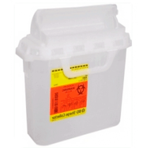 5.4 Quart Pearl RecyKleen Sharps Containers with Counterbalanced Door 305056