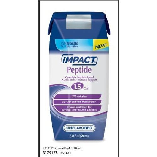 IMPACT 1 Cal Tube Feeding Formula with Peptide Unflavored - 250 mL