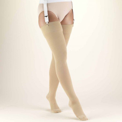 TRUFORM Classic Medical Thigh High Stockings CLOSED TOE 30-40 mmHg