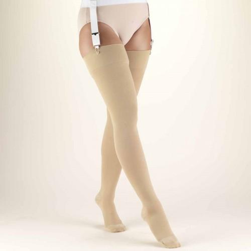 8707612f044 TRUFORM Classic Medical Thigh High Stockings CLOSED TOE 30-40 mmHg ...