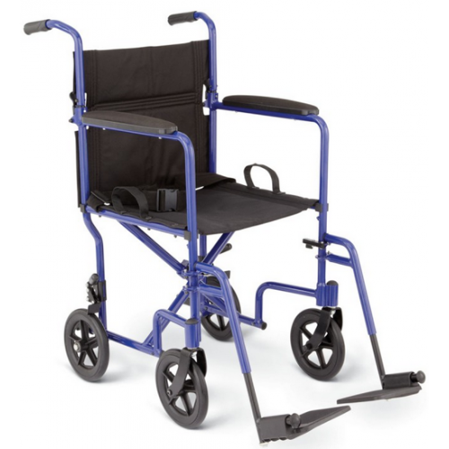 Aluminum Transport Chair Blue