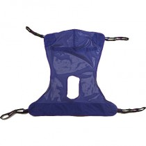 Full Body Mesh Sling with COMMODE Opening 450 Pound Capacity