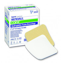 Covidien Kendall Copa Hydrophilic Foam Dressing 3 x 3 Inch - Fenestrated, Square, and Rectangle