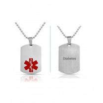 Front and Back of ReadyCare Medical Diabetes Necklace