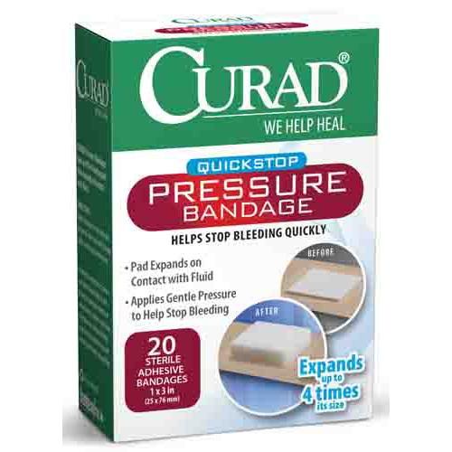 CURAD Pressure Adhesive Bandages, Latex Free