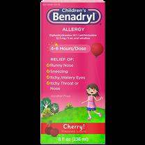 Children's Liquid Benadryl 12.5 mg Allergy Relief