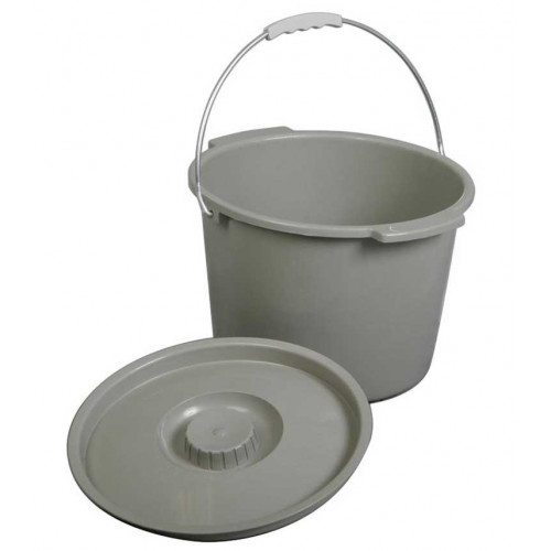 Medline Commode Bucket with Lid and Handle MDS80306BH