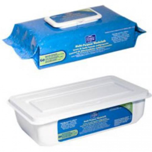 Hygea Disposable Bath Wipes - Soft Pack Flip Top Lid