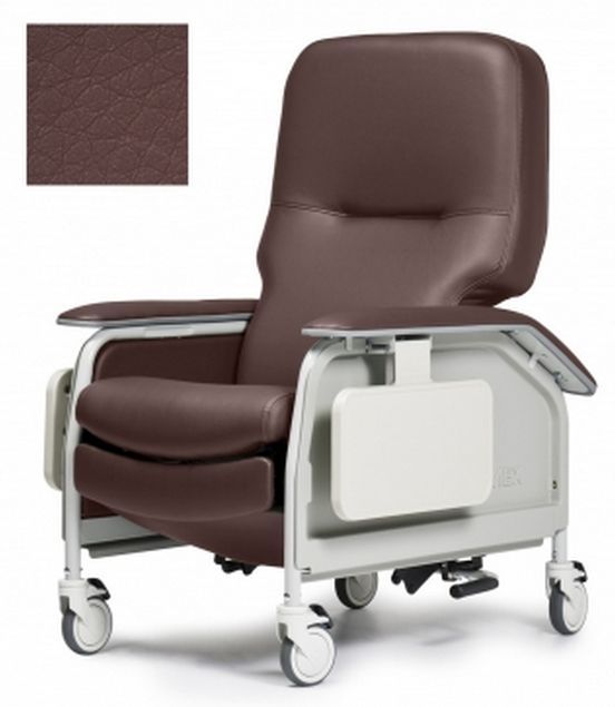 lumex deluxe clinical care geri chair recliner with tray b61