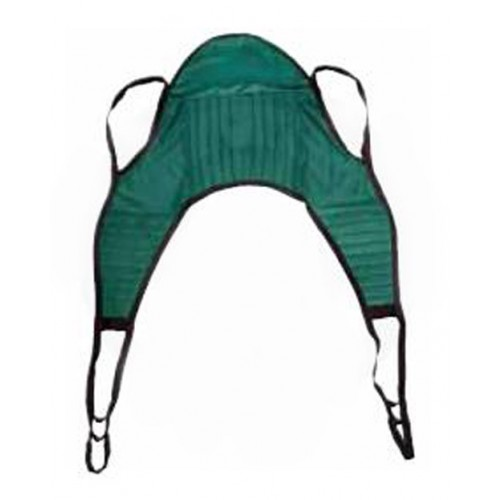 Padded Patient Lift U-Sling with Head Support