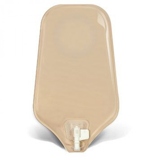 Urostomy Pouch with Accuseal Tap with Valve Transparent with 1-sided Comfort Panel