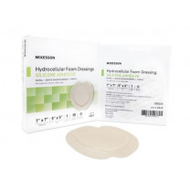 Adhesive Foam Dressing Silicone Adhesive 7 x 7 Inch Sacral - Sterile