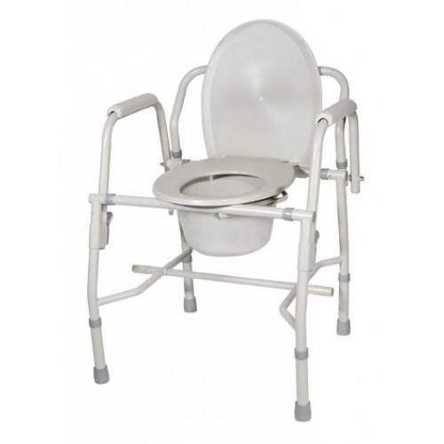 Bedside Commode Steel With Drop Arm Padded Arms By Drive