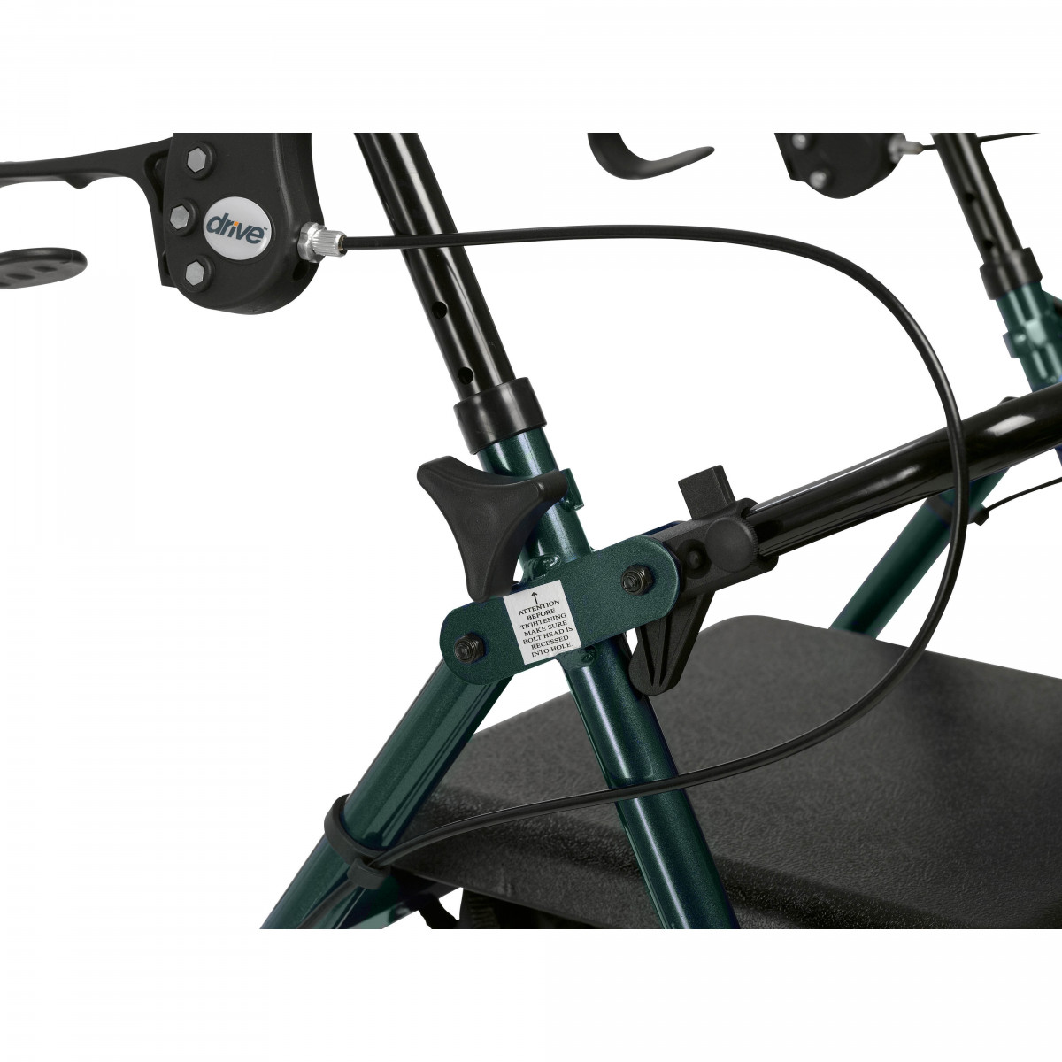 lightweight rollator with fold up and removable back support by drive 29f