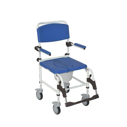 Aluminum Mobile Shower Chair Commode