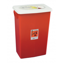 18 Gallon Red SharpSafety Sharps Container with Gasketed Hinged Lid 8998