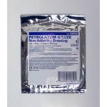 USP White Petrolatum Gauze Pleated Dressing 1 x 8 Inch - Sterile