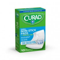 MedLine CURAD Sterile Nonstick Pads with Adhesive Tabs
