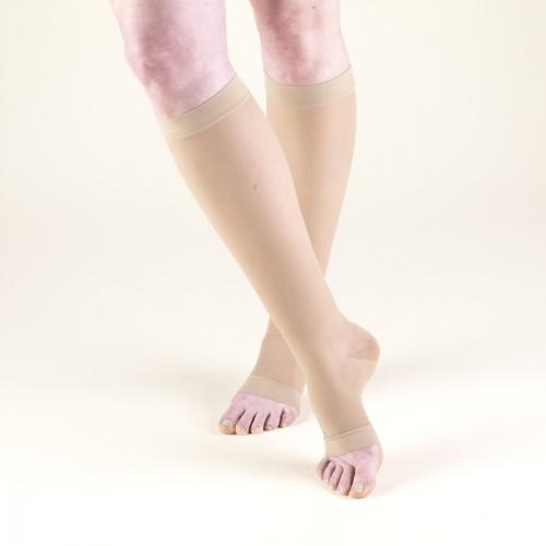 TRUFORM Women's LITES Knee High Support Stockings OPEN TOE 15-20 mmHg